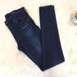 {AG} The Farrah High Waisted Skinny Dark Wash